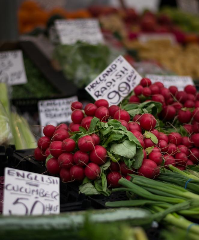 Radish farmers market
