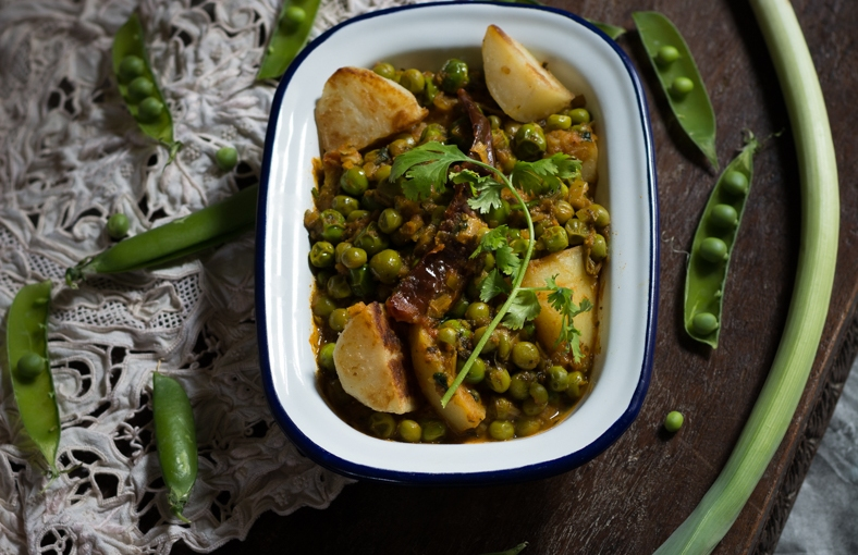 Mangal Kangtak – a North East Indian Green PeasCurry