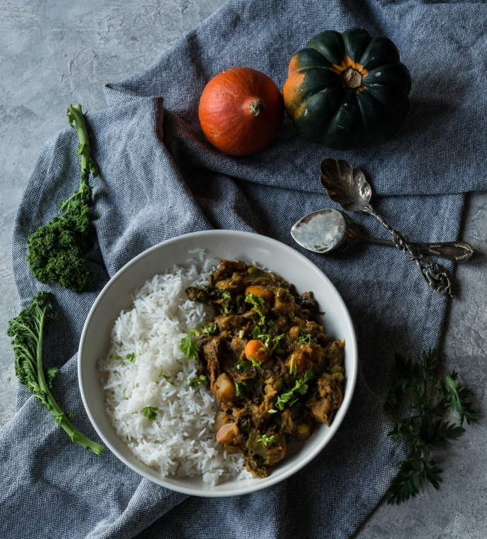 Image of Indian spiced mix vegetable curry