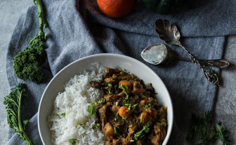 Vegan Indian Spiced Mix Vegetable Curry aka 'Annakoot kiSubzi'